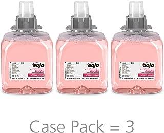 GOJO FMX-12 Luxury Foam Handwash, Cranberry Scent, EcoLogo Certified, 1250 mL Foam Soap Refill for GOJO FMX-12 Push-Style Dispenser (Pack of 3) – 5161-03