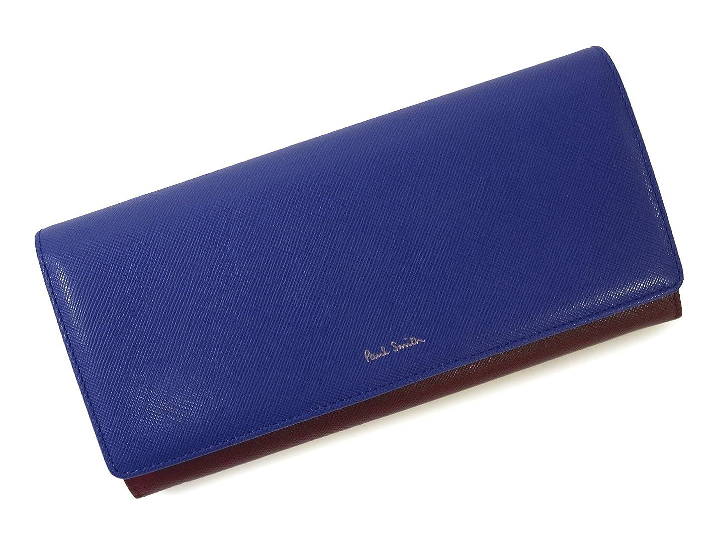 旋回囲まれた一般的に言えば[ポールスミス] 長財布 トリフォールド レディース (ブルー) PA-1146 [並行輸入品]