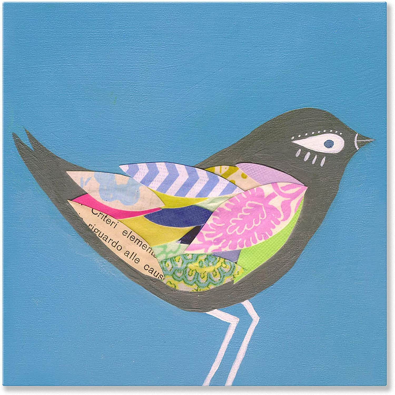 Oopsy Daisy Slate Junco Bird Wall Art, 21 by 21