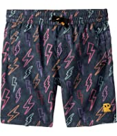 Rock Your Baby - Neon Bolts Boardshorts (Toddler/Little Kids/Big Kids)