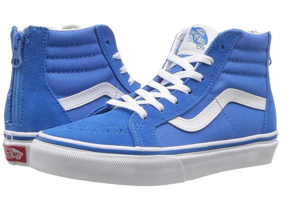 Vans Kids Sk8-Hi Zip (Little Kid/Big Kid) (Indigo Bunting/True White) Boys Shoes