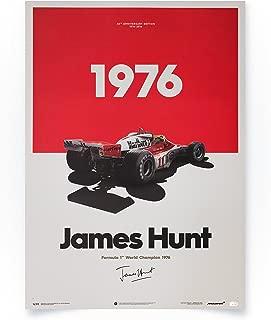 Automobilist Store McLaren M23 - James Hunt - 1976 - Unique Design Limited Edition Poster - Standard Poster Size 19 ¾ x 27 ½ Inch