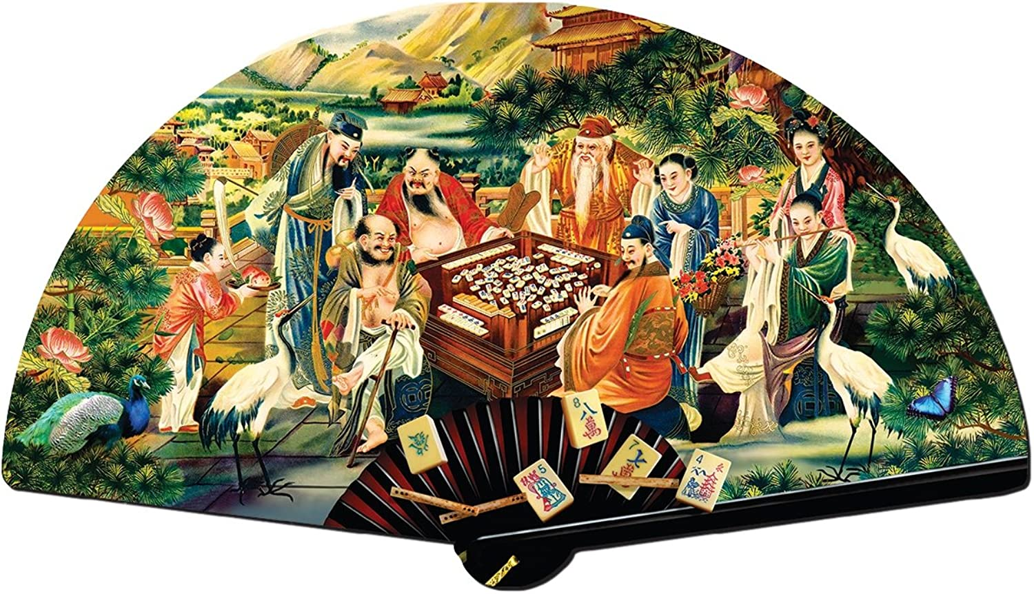 The Eight Immortals Playing Mah Jongg 1000pc Shaped Jigsaw Puzzle by SunsOut