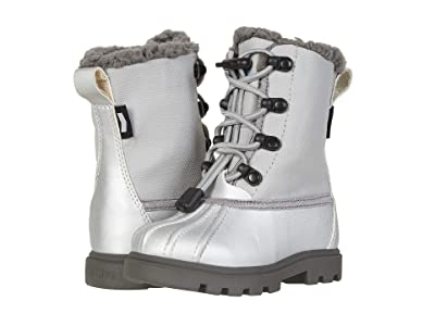 Native Kids Shoes Jimmy 3.0 Treklite (Toddler/Little Kid) (Silver Metallic/Pigeon Grey/Dublin Grey) Girl