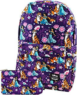 Loungefly Disney Standard Nylon Backpack and Matching Pouch Set