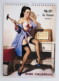 Gil Elvgren Wall Calendar 2020 Pin Up Glam Sexy Girl Retro Vintage A4 Edition 3