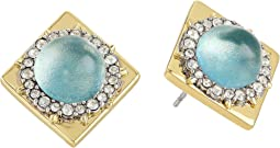 Alexis Bittar Crystal Encrusted Geometric Studded Post Earrings