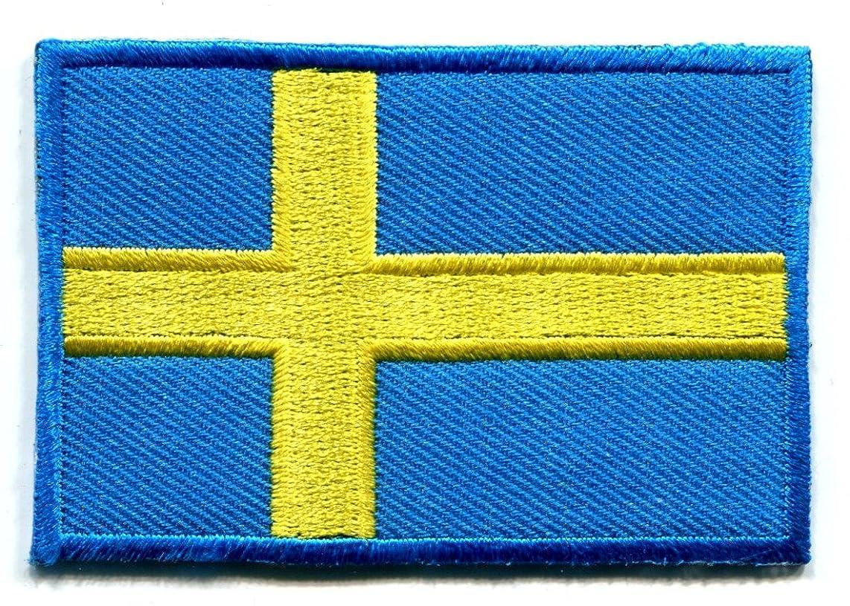 Flag of Sweden Swedish applique iron-on patch size Medium