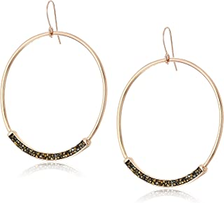 Kenneth Cole Women's Sprinkle Stone Large Gypsy Hoop Earrings, One Size