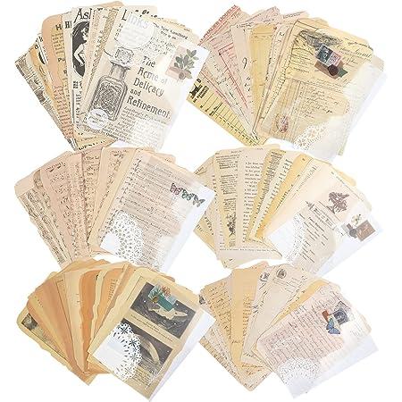 150 feuilles de fournitures de papier de scrapbooking vintage pour l'écriture de papier de conception de papeterie décorative esthétique (lot de 150)
