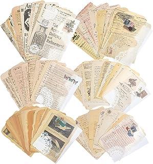 150 feuilles de fournitures de papier de scrapbooking vintage pour l'écriture de papier de conception de papeterie décorat...