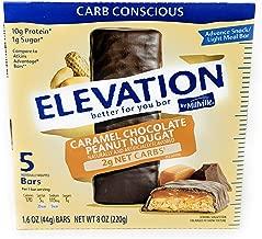 Elevation Caramel Chocolate Peanut Nougat Advance Breakfast Bar 1.6 Ounce x 5 Bars (Total 8 Ounces), Pack of 1