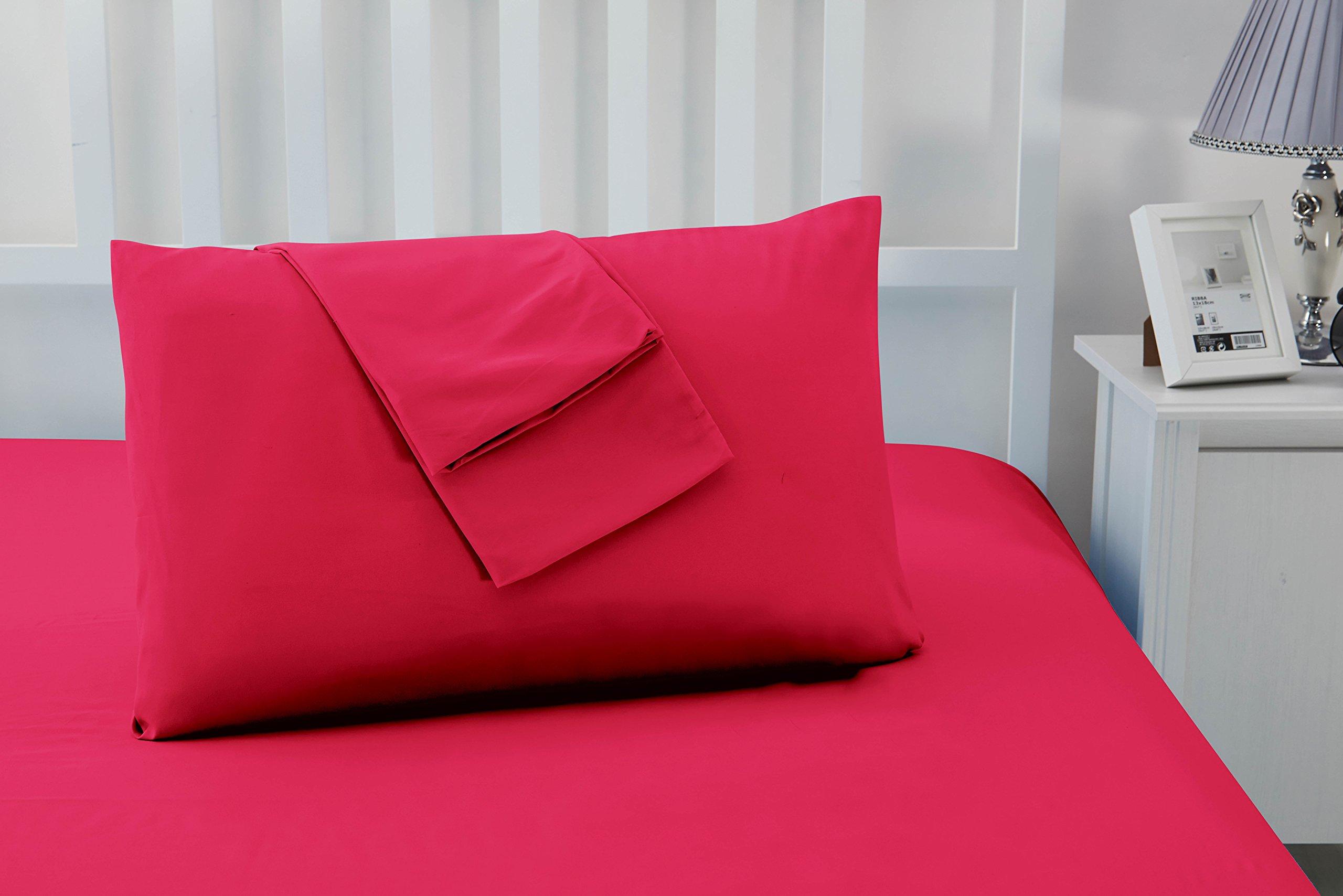 Juego de 2 Luxury Non hierro suave microfibra fundas de almohada por Sonia moer: Amazon.es: Hogar