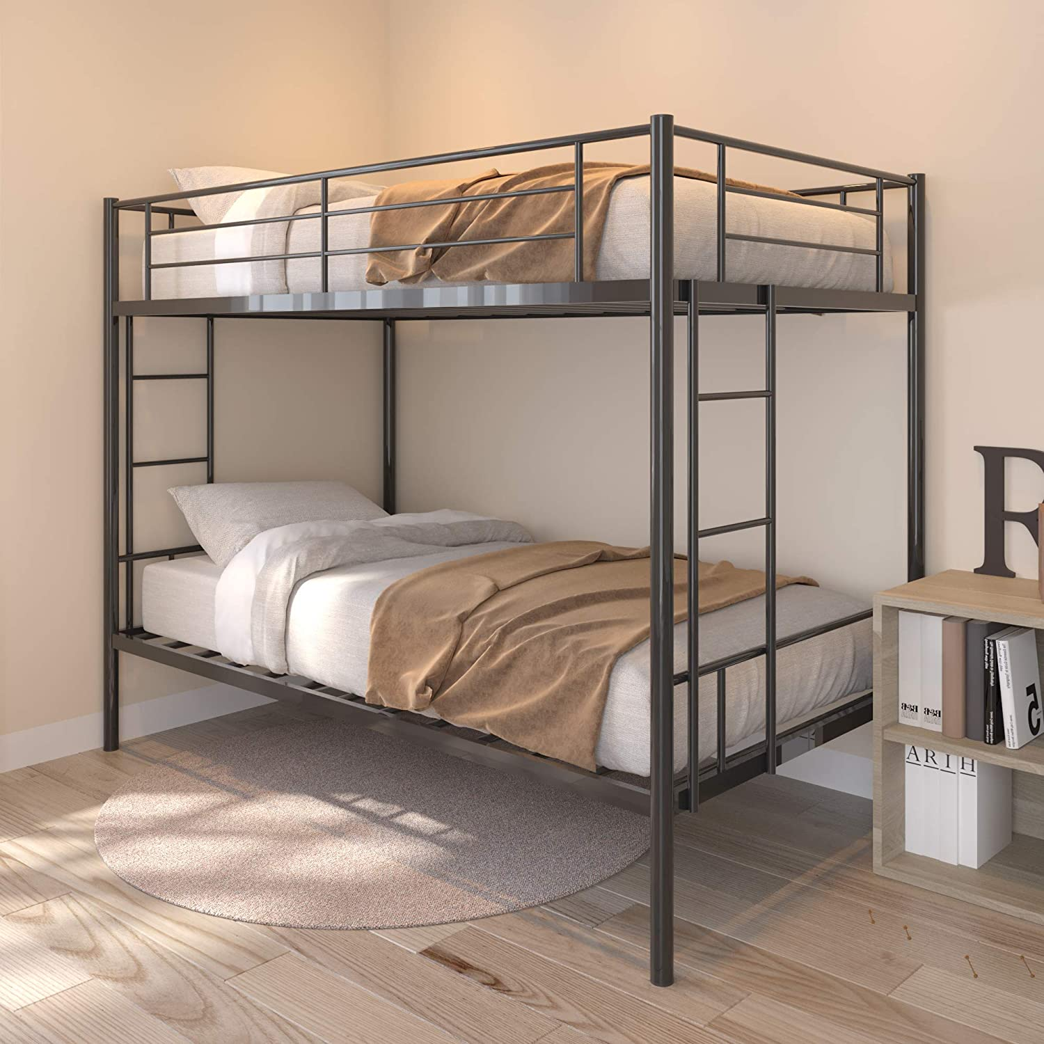 Twin Over Challenge the lowest price of Japan ☆ Metal Bunk Beds Heavy New product type with S Frame Steel Bed Duty