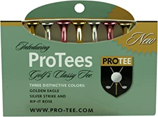 PROTEE Golf Tees (9-Pack), Mixed Shiny