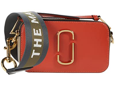 Marc Jacobs Snapshot Crossbody (Peach Blossom Multi) Handbags