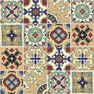 Tierra y Fuego Tile Set - Sixteen (16) 4¼ x 4¼ in. Ceramic Tiles - Santa Barbara