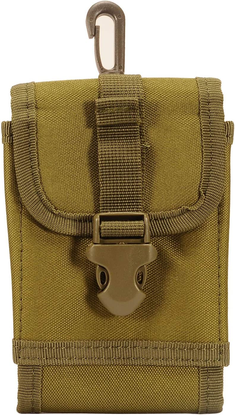 Z-GEN - Universal Mobile Phone Holster Pouch Holder Waist Bag for Moto G7 Play, Stylo 5/4, V50, G8 ThinQ, K40, Galaxy S10 Plus, A6, J3, Alcatel Onyx, TCL A1X, Avalon V, IdealXtra - Army Green