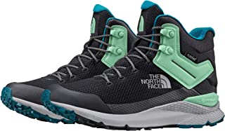 The North Face Women's Vals Mid Wp Trekking & Hiking Boots, Ebony Gry/Micro Chip Gry