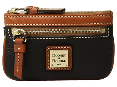 Dooney & Bourke Pebble Small Coin Case (Black) Coin Purse