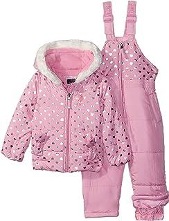 U.S. POLO ASSN. Baby-Girls Foil Printed Snowsuit