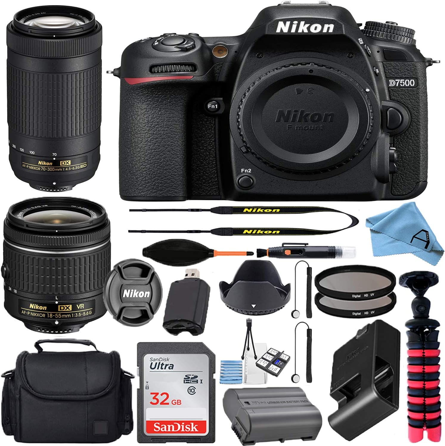 Beauty products Nikon D7500 2021 model 20.9MP DSLR Digital Camera AF-P DX w NIKKOR 18-55mm
