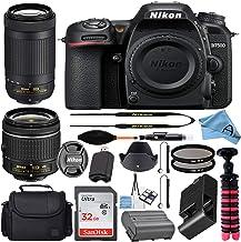 $1049 » Nikon D7500 20.9MP DSLR Digital Camera w/AF-P DX NIKKOR 18-55mm f/3.5-5.6G VR & AF-P DX 70-300mm f/4.5-6.3G ED Lens + SanD...