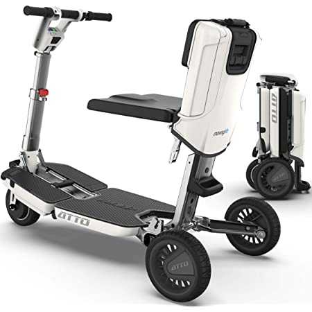 Amazon.com: ATTO Folding Mobility Scooter by Moving Life, Full-Size Portable  Electric Scooter for Adults, Lightweight Lithium Battery, Airline Approved:  Health & Personal Care