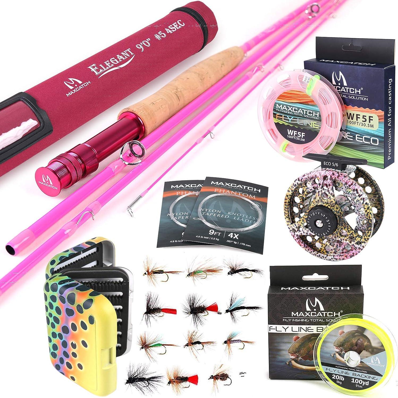 M Max 69% OFF MAXIMUMCATCH Maxcatch Women's Austin Mall Elegant 2 Pink Fishing Rod: Fly