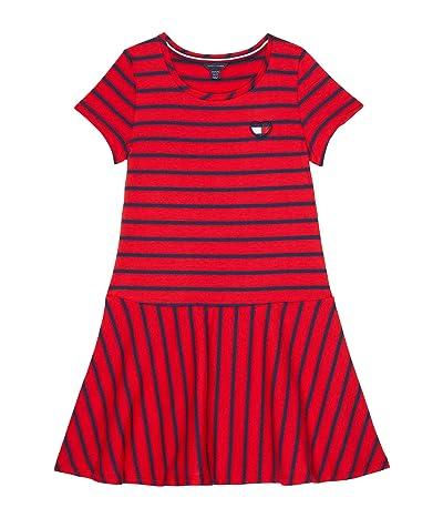 Tommy Hilfiger Kids Striped Drop Waist Dress (Big Kids)
