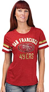 San Francisco 49ers Women's G-III 4Her Extra Point Bling Tee Shirt -Scarlet