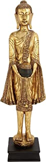 Deco 79 Eclectic Resin Detailed Standing Buddha Sculpture, 54