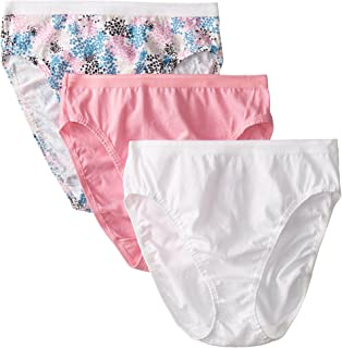 Fruit of the Loom Women's 3 Pack Assorted Cotton Hi-Cut Panties