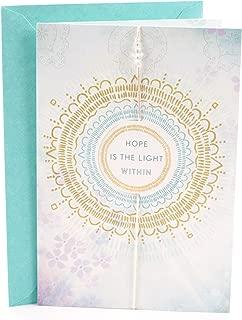 Hallmark Thinking of You Card (Hope is The Light Sun Mandala, Inspirational Card)