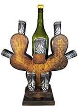 Mextouch Cactus Decanter Set With 6 Tequila Shot Glasses