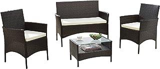 Divano Roma Furniture Modern Outdoor Garden Patio Set – 4 Piece