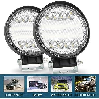 CICMOD 3 Inch 42W LED Work Light Bar 6000K Square Off Road Driving Fog Lights for Trucks SUV ATV UTV Pack of 4