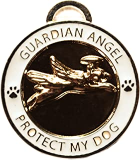Luxepets Pet Collar Charm, Guardian Angel Dog, Gold