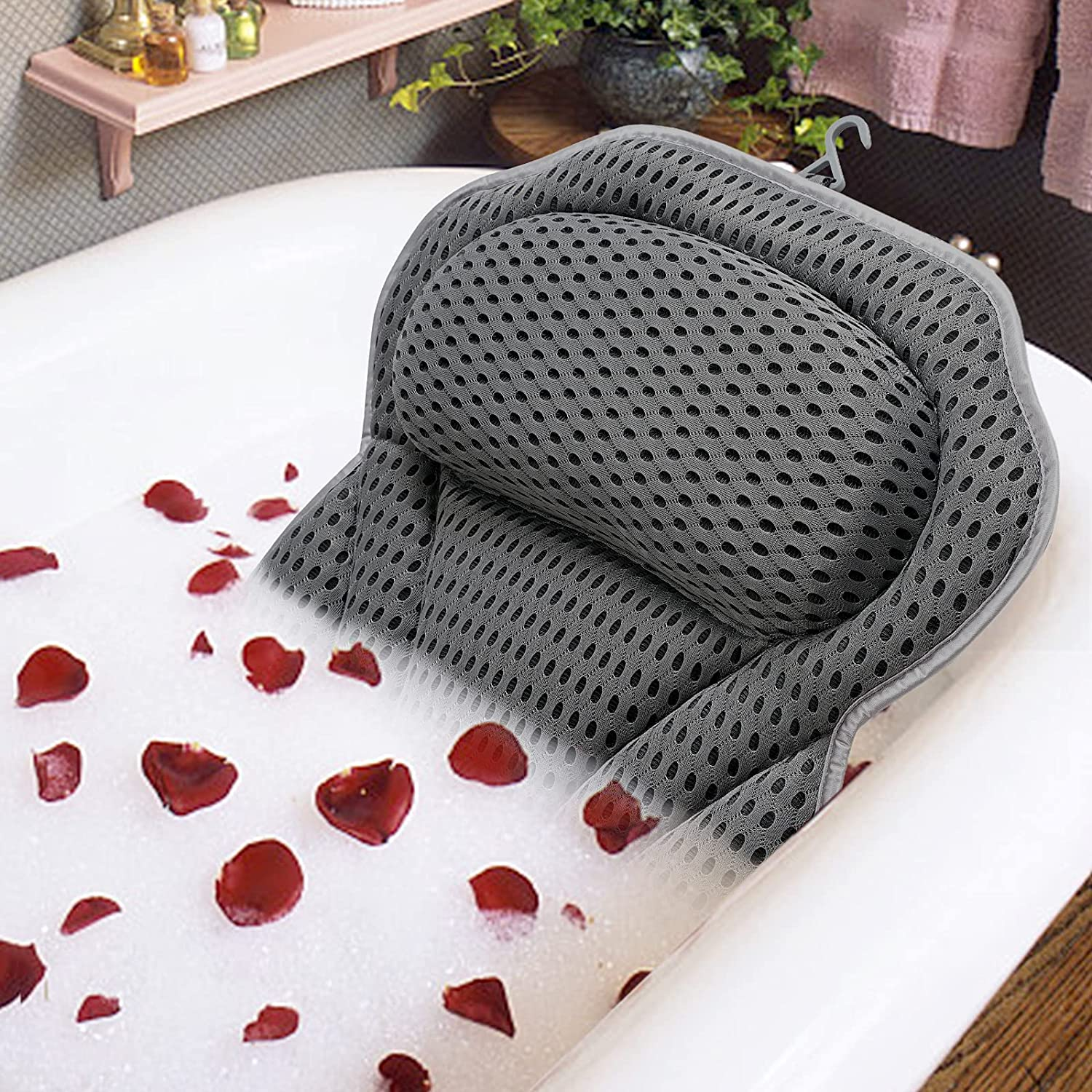 Luxury Bath Pillow Bathtub Spa Milwaukee Mall with Air Non-s Dealing full price reduction 4D Mesh and