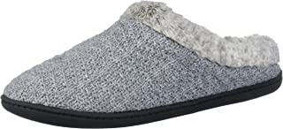 Women's Sweater Knit Clog with Pile Cuff Slipper