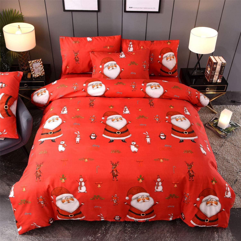 YOUSA Cartoon Kids Bedding Latest item Set Duvet Cover King Sets Christmas Max 61% OFF