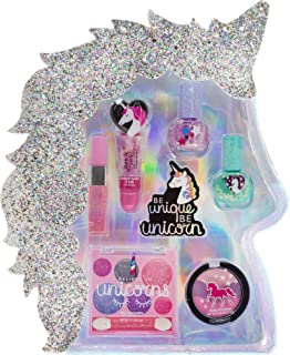 Townley Girl I Believe in Unicorns Makeup Set with 8 Pieces, Including Lip Gloss, Nail Polish, Body Shimmer and More in Un...