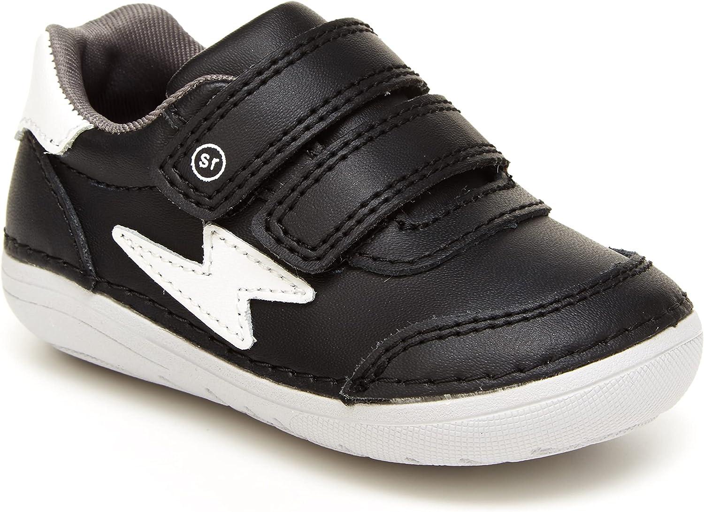 Stride Rite Boy's Soft Motion Kennedy Sneaker, Black, 5.5 Wide Toddler