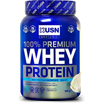 USN 100 Percent Whey Protein Vanilla 908 g: Muscle Building and Recovery Whey Isolate Protein Powder