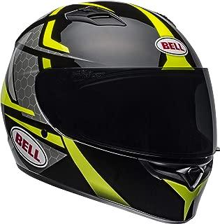 Bell Qualifier Full-Face Motorcycle Helmet (Flare Gloss Black/Hi-Viz Yellow, Medium)