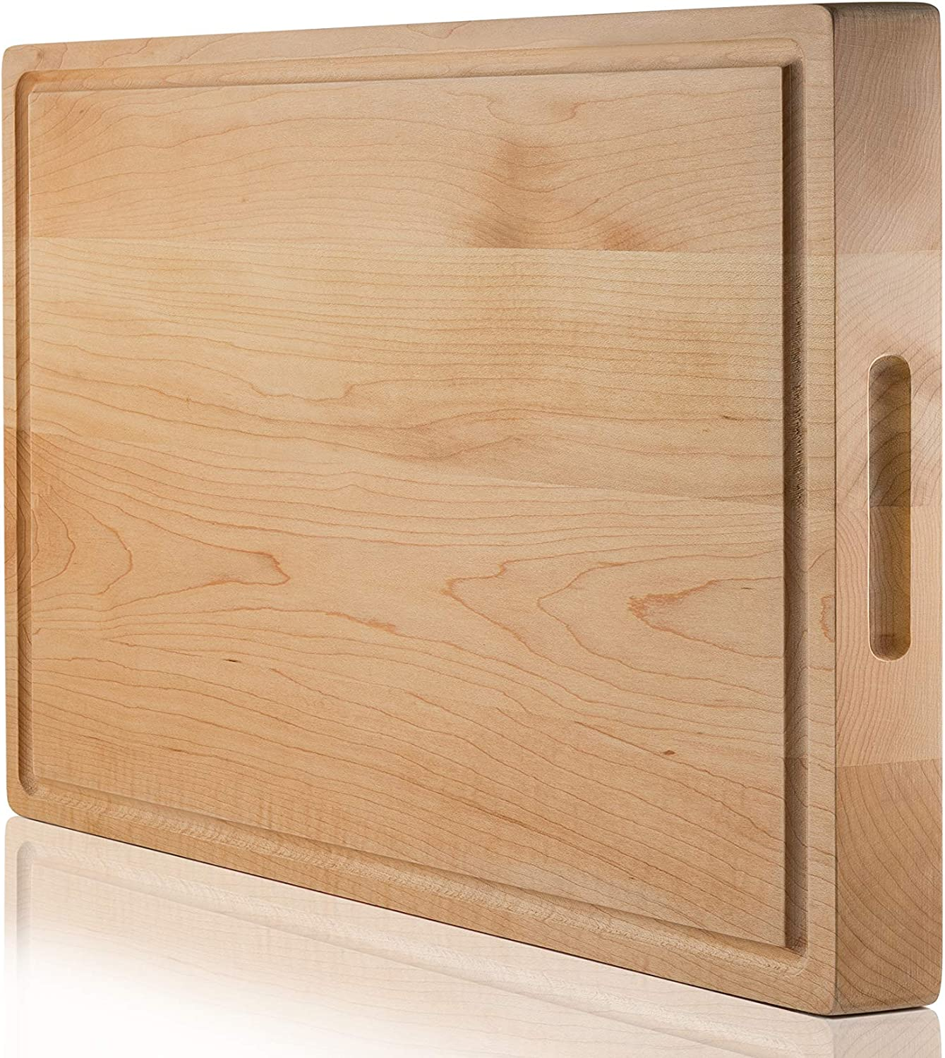 SoulFino EXTRA Year-end gift LARGE Cutting Board Butcher w Groov Juice Dallas Mall Block