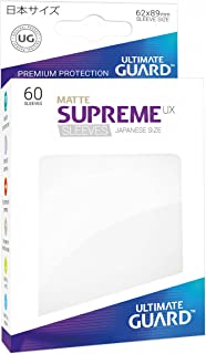 Ultimate Guard Supreme Japanese UX Card Sleeves (60 Piece), Matte White