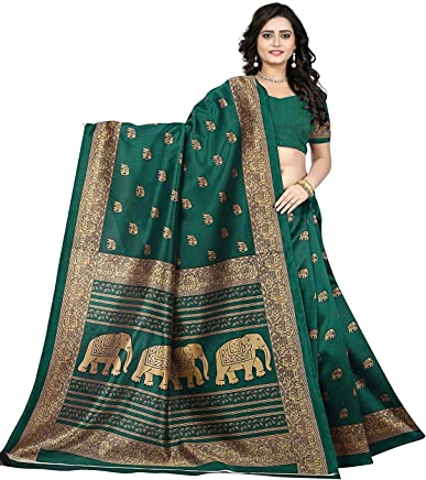 966fc942743 Designer Women s Green Silk Embroidered Wedding Party Wear Indian Ethnic  Saree