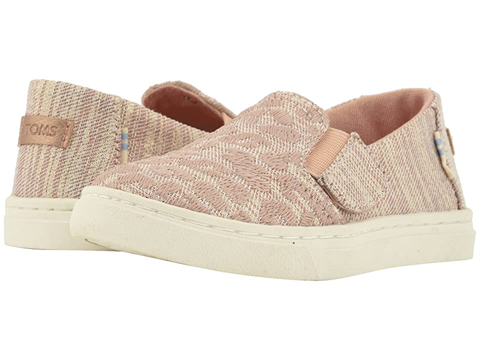 TOMS Kids Luca (Infant/Toddler/Little Kid) (Rose Cloud Cheetah Embroidery/Twill Glimmer) Girl
