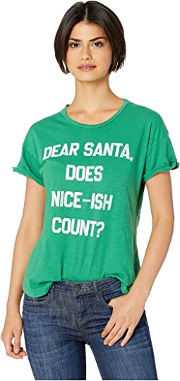 Does Niceish Count Short Sleeve Slub Crew Neck